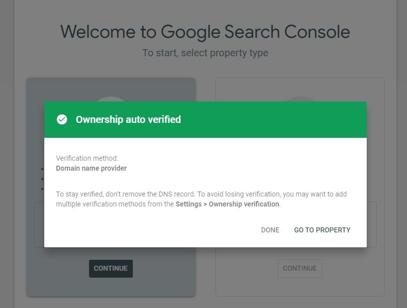 google search console success